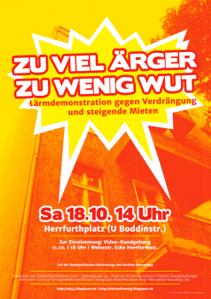 Lärmdemo Sa 18.10.14 um 14:00 Herrfurthplatz